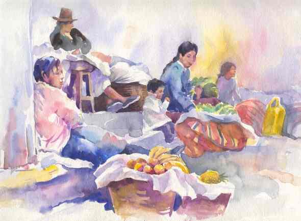 90- E. Cerrillo- Mujeres Ollantaytambo-