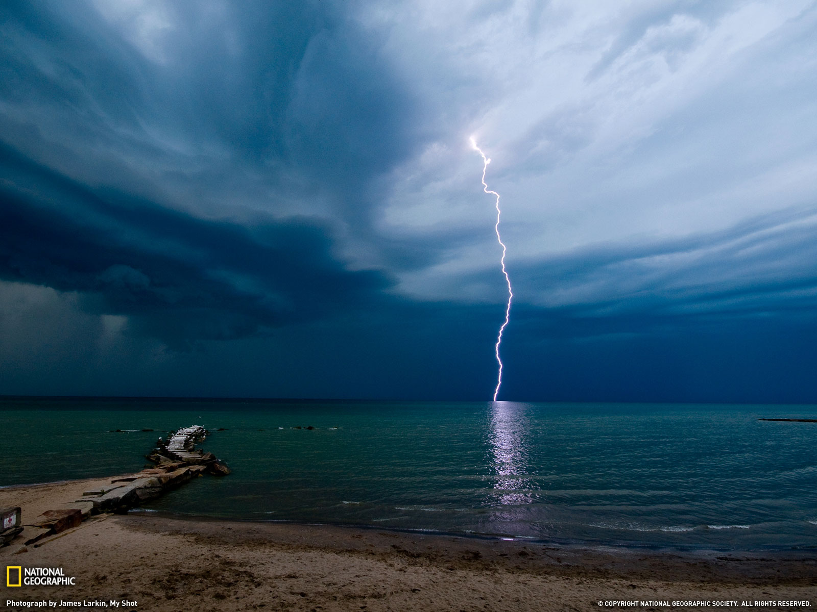 Lightning Huntington Beach National Geographic Wallpaper