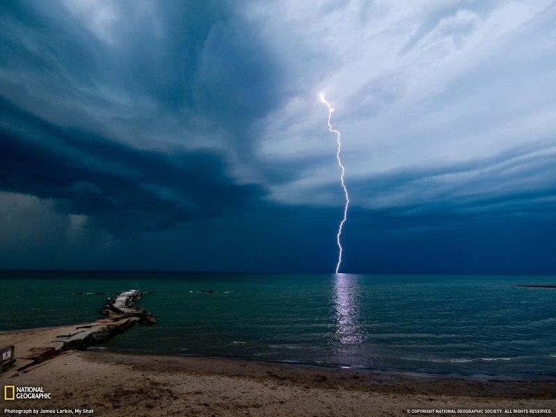 Lightning Huntington Beach National Geographic Wallpaper